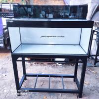 aquarium 120x50x50 10mm set top filter kaca dan tutup set hollo 4x6