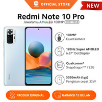 Xiaomi Redmi Note 10 Pro 8/128GB NFC 6.67 108MP 5020mAh Smart HP