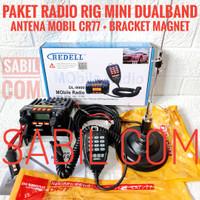 RADIO RIG MINI DUALBAND PLUS PAKET ANTENA CR77 BRACKET MAGNET DP SPM