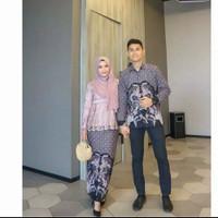 Batik Couple Kebaya brukat Gamis Sarimbit Baju Batik Kebaya Modern