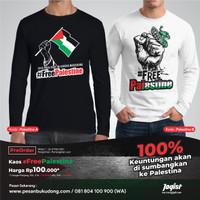 Kaos Jogist Free Palestine Lengan Panjang
