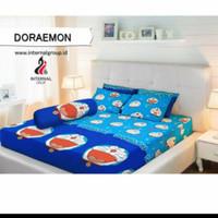 bed cover set Lady rose sprei Flat uk 160x200 motif Doraemon