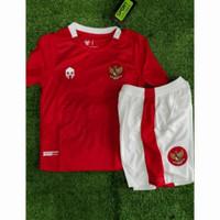 Stelan Jersey Baju Bola Kids Kid Anak Kecil Timnas Indonesia Home 2021