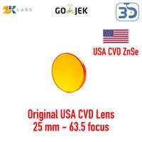 Zaiku LS CO2 Lens Lensa Mesin CO2 Laser Diameter 25 mm Focus 63,5 mm