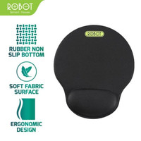 Robot RP02 Mousepad Non-slip with Ergonomic Wrist Rest Design Black