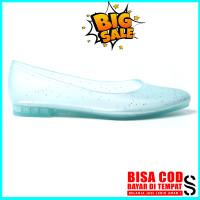 Sepatu Jelly Wanita Sarasara LOLITA Jelly Flat Shoes Transparan