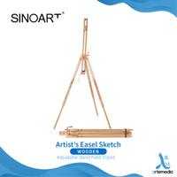 Easel Lukis Sinoart Artists Sketch Wooden Stand Field Tripod