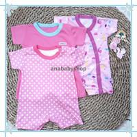 3pcs romper baju kodok bayi perempuan baru lahir 0 3 6 12 16 bulan