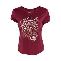 Kaos Hard Rock Cafe Wanita Couture Lattice Sleeve - ORIGINAL HARDROCK - M - Venice