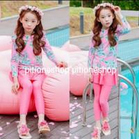 Baju Renang Anak 2-11thn import Setelan Set Swimming Suit Swimsuit