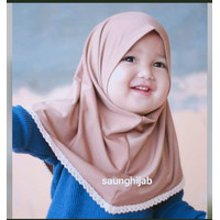 jilbab hijab anak bayi renda polos