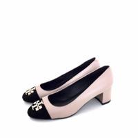 Sepatu Heels Pump Wanita Tory Burch Kira Cap Toe Pump heels - Cream