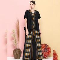 setelan wanita celana kulot blouse batik ethnic tenun blanket KL010