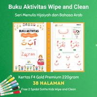 Buku Aktivitas Wipe and Clean Hijaiyah dan Bahasa Arab Secil Mainan
