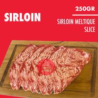 Daging Sapi Sirloin Wagyu Meltik Slice Beef Striploin Meltique 250gr