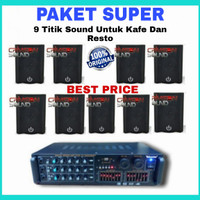 Paket Sound Sistem Super untuk Kafe, Restoran, kantin, sekolah.