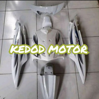 Cover Full Body - Bodi Halus Mio Sporty 2005-2007 Putih + Striping