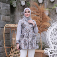Baju batik wanita terbaru Blous batik wanita kekinian terlaris kode 04