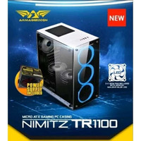 Casing Armageddon NIMITZ TR1100 Tempered Glass Gaming Case