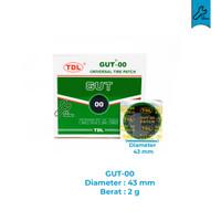 Karet Tambal Ban Cold Patch (Bulat/Kotak) Tambalan 1PC Hijau Tubeless - Bulat 43mm