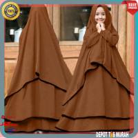 Baju Gamis Syari Anak Ramadhani Moka Cewek Perempuan 7 8 9 10 Tahun