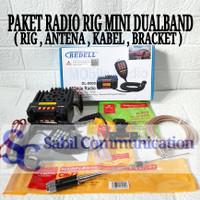 PAKET RADIO RIG MINI DUALBAND PLUS ANTENA MOBIL CR77 CR-77 MURAH