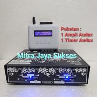 Paket Ampli Audax AXM 11 Anti Petir + Timer Audax Amplifier Walet