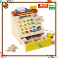 ed inter wooden cashier toys - mainan kasir kayu - pretend toys