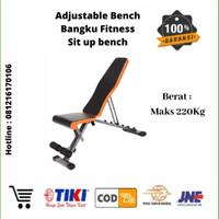 Adjustable Bench 7in1 Sit Up Bench / Bangku Fitnes Kokoh Kuat Original