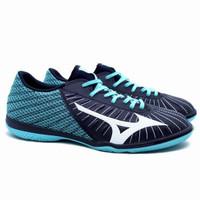 Sepatu Futsal Mizuno Rebula Sala Select In - Black/White/Blue Turquise