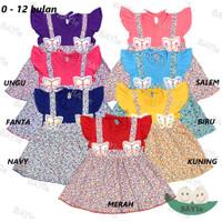 Baju bayi/Anak Perempuan Dress Motif 2 KUPU PLANET KIDS Usia 0-12 bln