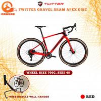 RoadBike Gravel Bike TWITTER GRAVEL SRAM APEX Disc Carbon Sepeda Balap