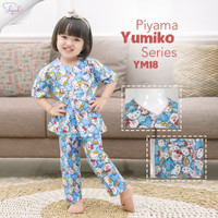 Shofwah Yumiko Series Piyama Anak /Remaja Unisex YM18 Hello Kitty Blue