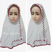 Jilbab Anak Kaos Super Sekolah Kepang SD Putih Merah