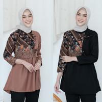 Atasan batik wanita Baju batik wanita kombinasi terlaris 2021 kode 03