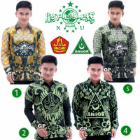 Baju Batik Pria Slimfit BIG SIZE M L XL XXL | Batik Ansor Banser