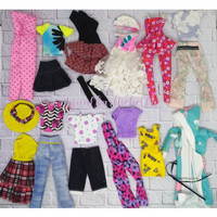 Mainan Baju Barbie Campur Model Dan Warna Lusinan