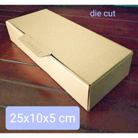 Dus Box Kotak packing karton murah baju jilbab kain hijab kado 25x10x5