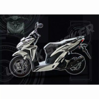 STICKER CUTTING BODY MOTOR HONDA VARIO FI NEW 125 150 PUTIH