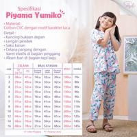 Shofwah Yumiko Series Piyama Anak /Remaja Cewek YM23 B White