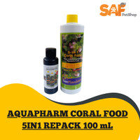 CORAL FOOD 5IN1 REPACK 100 mL MAKANAN CORAL AQUARIUM AIR LAUT