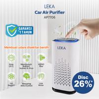 LEKA AP7706 Car Air Purifier - Mini Portable HEPA Filter UV-C Ion UV
