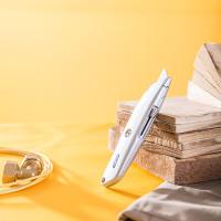 Deli Utility Knife / Cutter Aluminium SK5 Kunci Otomatis DL4260