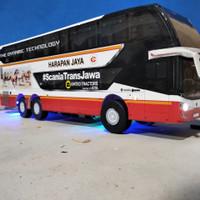 MINIATURE DAN RC BUS SDD FULL LED HARAPAN JAYA MURAH - REMOTE CONTROL