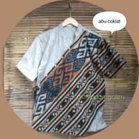 kemeja tenun pria/baju tenun pria-atasan etnik( geser ya)
