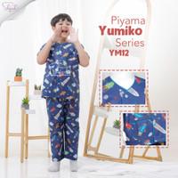 Shofwah Yumiko Series Piyama Anak / Remaja Unisex YM12 Roket Midnight