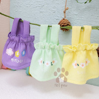 Petpaw Baju Anjing Kucing Flower Pastel Dress Premium Import
