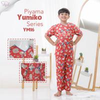 Shofwah Yumiko Series Piyama Anak / Remaja Unisex YM16 Landak Merah