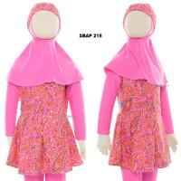 Baju Renang Anak Muslim Muslimah Ukuran 6 dan 7 Tahun Sulbi SBAP