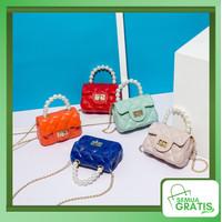 Semua Gratis - Tas Selempang Mini / Tas Handbag / Jelly Bag Mutiara